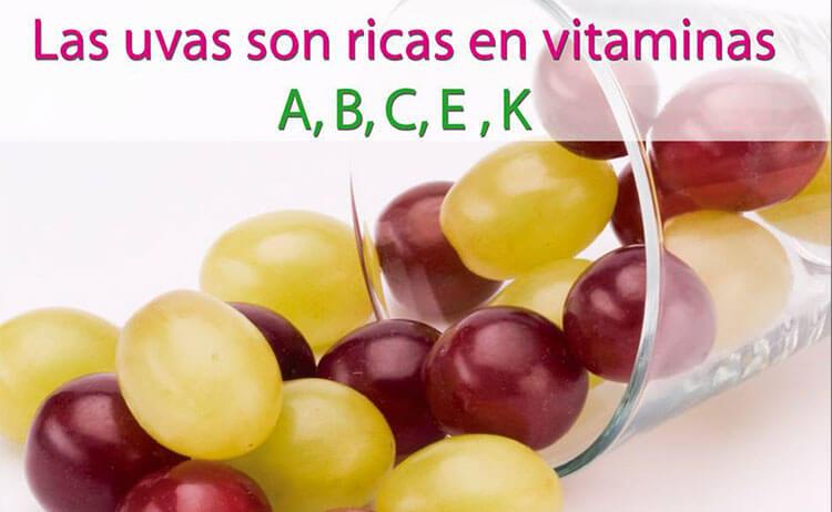 Las uvas son ricas en vitaminas