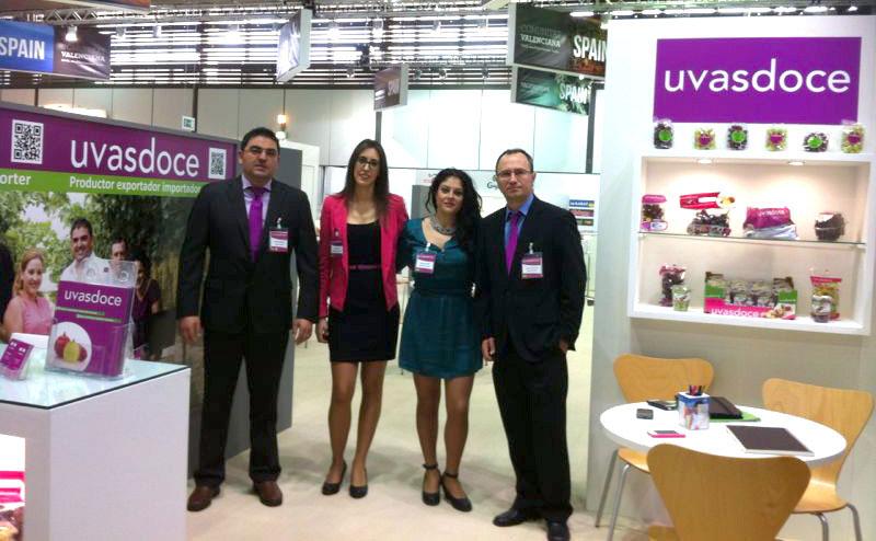 Equipo Uvasdoce en Fruit Logistica 2014