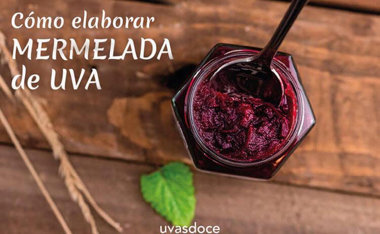 Elaboración de mermelada de uvas