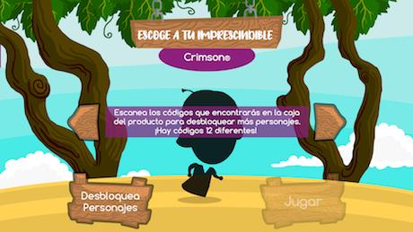 Escoger personaje Imprescindibles en el juego uvasdoce
