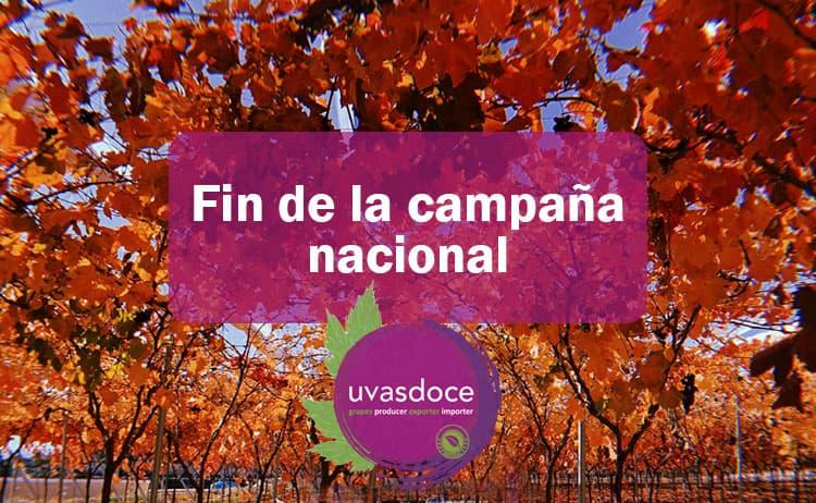 Fin de la campaña nacional de la uva